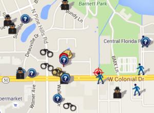June 2016 Crime Map (spotcrime.com)