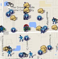 July 2016 Crime Map (spotcrime.com)