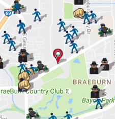 August 2016 Crime Map (spotcrime.com)