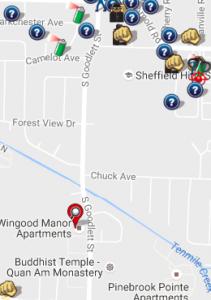 August 2016 Crime Map (spotcrime.com)