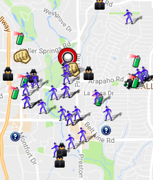 September 2016 Crime Map (spotcrime.com)