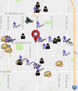 October 2016 Crime Map (spotcrime.com)