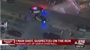 North Star Mall Parking Lot Shooting in San Antonio Leaves One Man Injured.