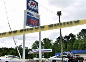 Lares Santwan Blue Fatally Injured in Raeford, NC Gas Station Shooting.