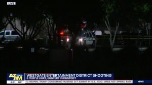Westgate Entertainment District Shooting, Glendale, AZ, Injures Three People.