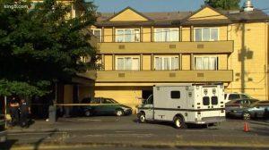 Everspring Inn Motel Shooting, Seattle, WA, Fatally Injures One Man.