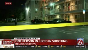 Extended-Stay Hotel Shooting, Orlando, FL, Critically Injures One Man.