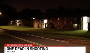 Horizon Park Apartments Shooting, Antioch, TN, Fatally Injures One Man.