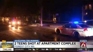 Lake Weston Apartments Shooting, Orlando, FL, Leaves Two Teens Injured.