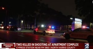 Copper Lodge Apartments Shooting, Houston, TX, Fatally Injures Two Men.