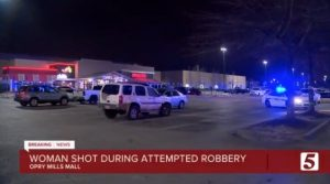 Opry Mills Mall Parking Lot Attempted Robbery/Shooting in Nashville, TN Leaves One Woman in Critical Condition.