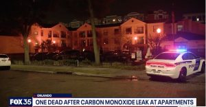 One Person Tragically Dies, One Person Injured in Orlando, FL Apartment Complex; High Levels of Carbon Monoxide Reported.