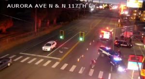 Aurora Avenue Parking Lot Shooting in Seattle, WA Leaves Three Men Injured.