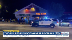Shooting Outside The Bison Bar in Raleigh, NC Leaves Two People Injured.